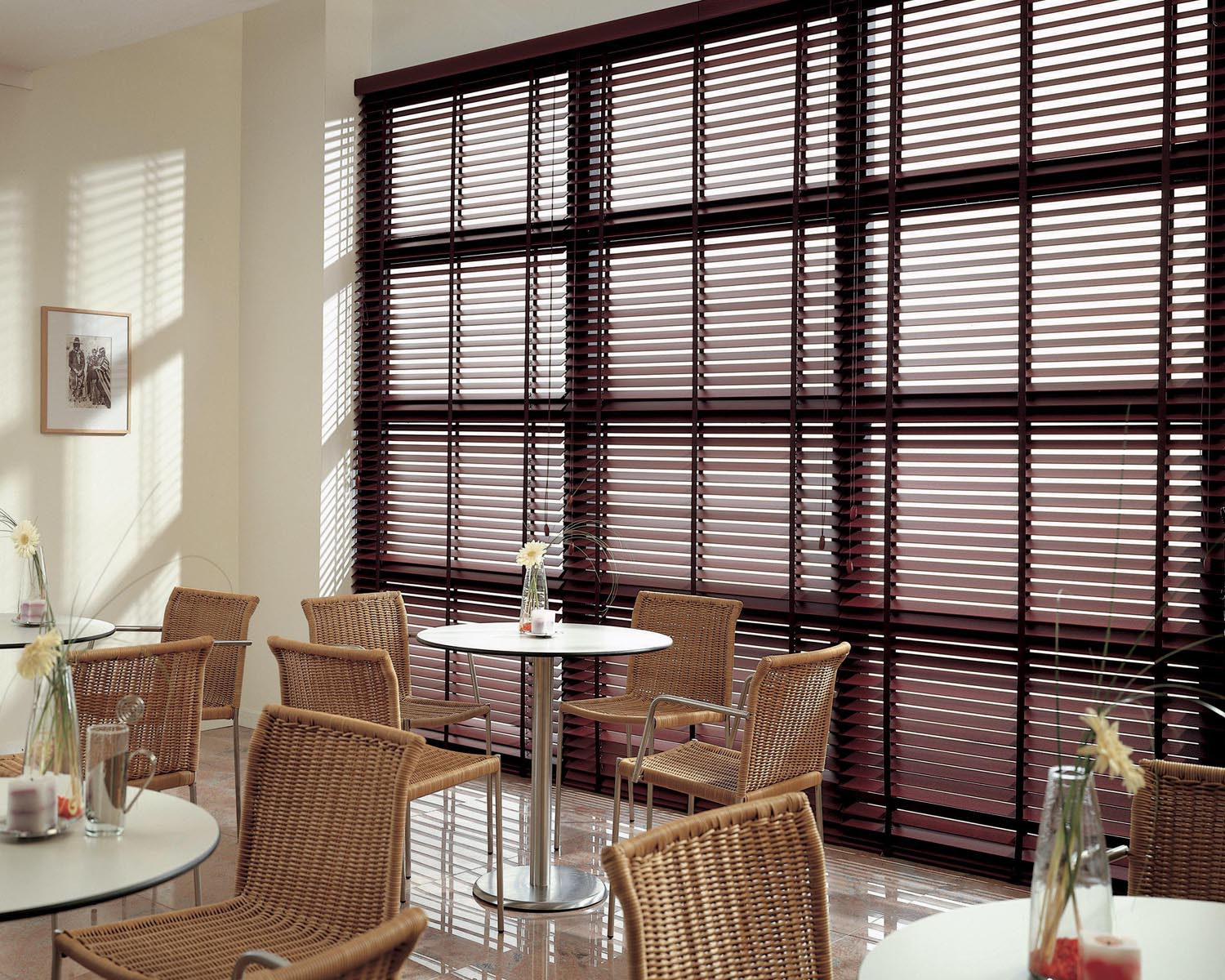 Wooden blinds galaxy blinds st helens warrington for Window blinds